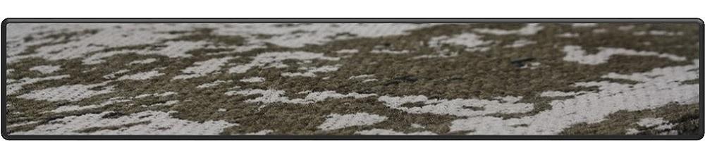 Flatweave jacquard woven with cotton/chenille medaillon design