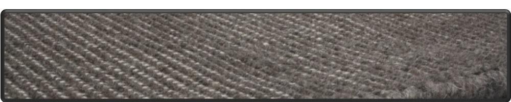 Handgeweven flatweave in wol, geschoren ribs motief.