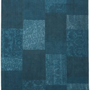Collage low pile carpet Blue