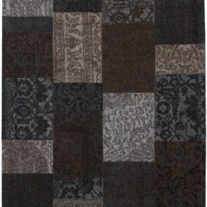 Collage low pile carpet Brown