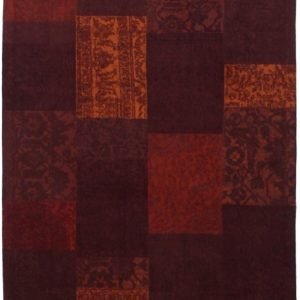 Collage low pile carpet Red