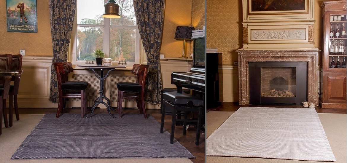 Flatweave carpet, hand woven, made out of viscose