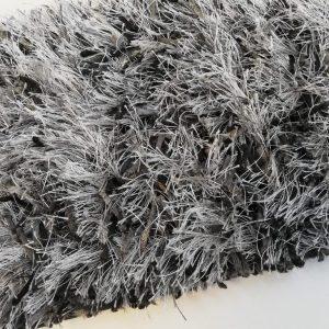 Melange hoogpolig vloerkleed Grey