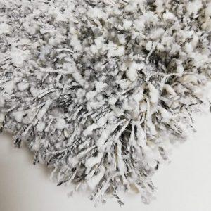 Toronto hoogpolig vloerkleed white silver
