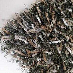 Melange high pile carpet Green